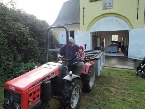 La relève sur le tracteur...